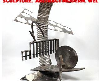 Lot 9 Heavy Industrial Steel Sculpture. Abstract Modern. wel