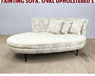 Lot 609 Adrian Pearsall Style Fainting Sofa. Oval Upholstered S