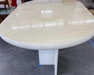retro glazed top table