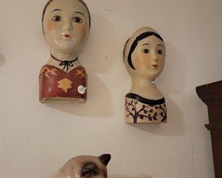 Nice set of Vintage Ceramic Wall Planters