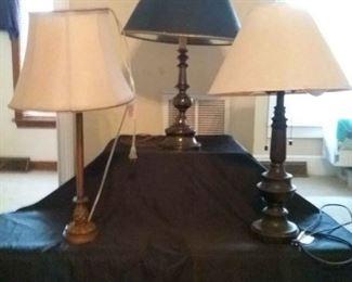 3 Large Metal Lamps