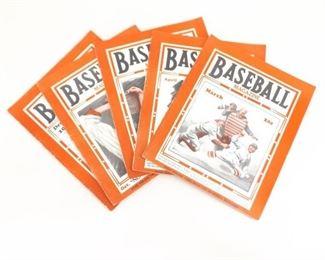 Lot of 5 Vintage 1932 Baseball Magazines