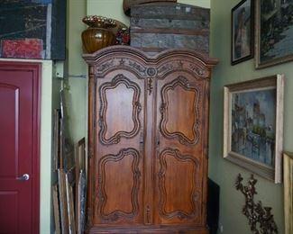 Antique Armoire Wardrobe 1 92t 54w 24d