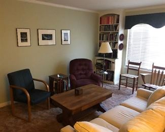 Living room with library table