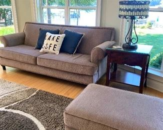"""2 Matching sofas (86"""" wide) each with ottomans"""