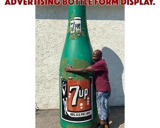 Lot 1200 Massive 10ft 7UP Advertising Bottle Form Display.