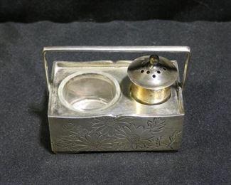Vintage Sterling Silver Okubo Salt & Pepper