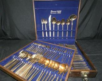 105 Piece Thailand Nickel Bronze Silverware Set