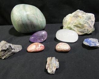 Jade, Aquamarine, Celenite Healing Stones & More