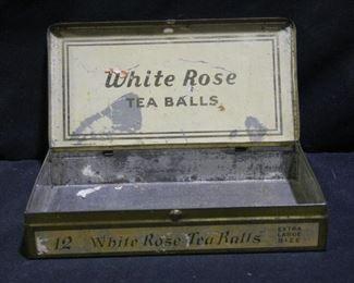 Two Vintage Cigar Boxes& White Rose Tin