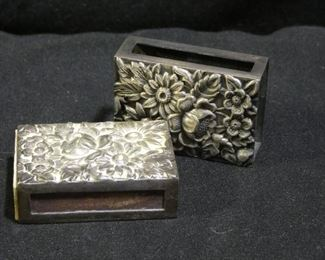 2 Kirk & Sons Sterling Match Box Cover