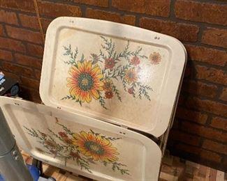 Vintage snack tray tables