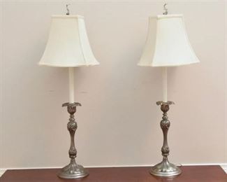 2. Metal Classical Style Stick Lamps With Shades