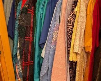 Vintage clothes, mostly med-large