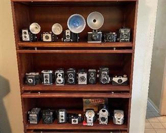Over 40 vintage cameras
