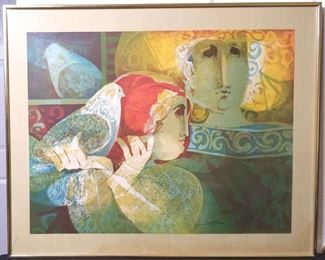 001 The Magician Alvar Sunol Signed Lithograph