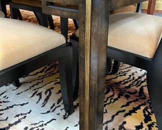"""Dining Room Table and 8 Chairs (2 Leafs included in Length:108"""" L x 45"""" W x 29"""" H)"""