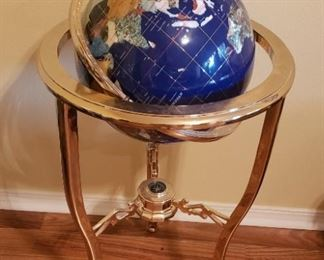 Gemstone floor size globe