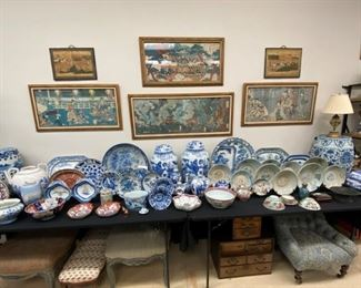 Oriental blue & white; Antique Delft