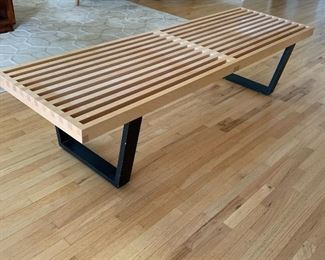 """George Nelson Platform Bench for Herman Miller. Measures 5' long and about 18.5"""" wide and 14.5"""" h"""