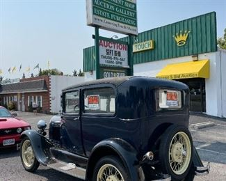 1929 Blue Ford Model A with Soft Top