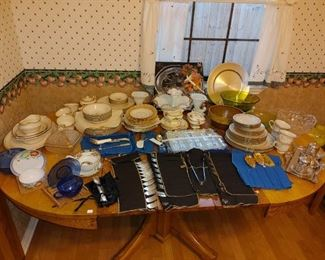 Tons of kitchen, dining, and entertaining items...most vintage or antique!