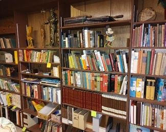 Tons of books of all kinds...