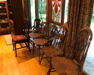 Assorted Antique Side Chairs