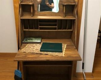 Antique Oak Drop Leaf Desk