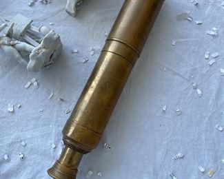 Ships brass telescope