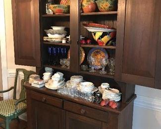 Antique Step back cabinet