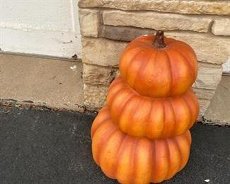 Outdoor topiary pumpkin $100