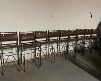 Italian leather bar stools