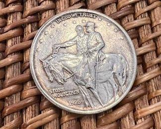 Lot #3 1925 Stone Mountain1/2 Dollar $47.50