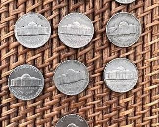 Lot#4 1941-1964 Jefferson Nickels$10 ungraded and well circulated coins