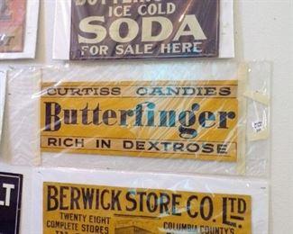tin advertising signs