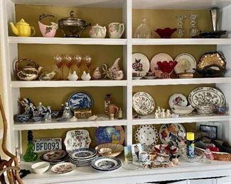 Collectables!  Fine china, tea pots, porcelain, wine goblets...