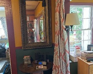 Large mirror, small drop leaf table, CD player and CD's