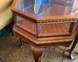 Mid Century Octagonal glass table
