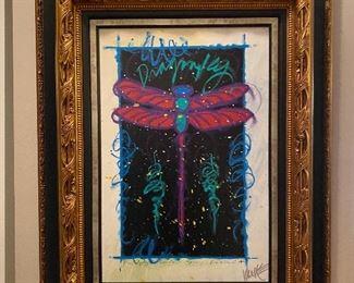 Tim Yankee acrylic. COA