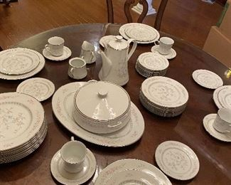 Lenox 12 place setting ( only 4 coffee cups with saucers) coffee pot, platter, serving dish $375. For set