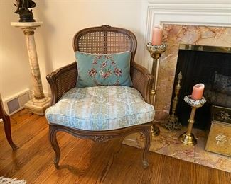 Caned bergere