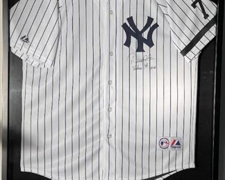 """DEREK JETER Signed Yankees Jersey with """"Yankees 1st Year"""" Inscription"""