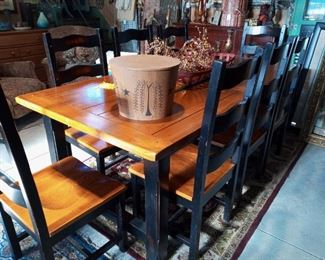 Beautiful Dinette Set with 8 Chairs
