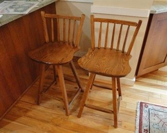 Hunt Country Furniture Oak kitchen counter height chairs $100 for the pair