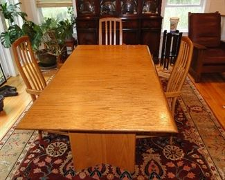 Canadian Dining Room Table with 6 chairs $400, Carpet underneath is for sale $400