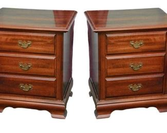 5. Pair Three Drawer Bedside Chest