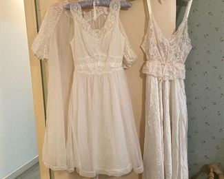 These nightgowns are so ridiculously gorgeous and flowy and I'm also obsessed with these. If they fit me I'd wear them everywhere, even the grocery store.  Not really. they're kind of sheer but still.