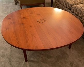 I could write soliloquies on this coffee table.  It's a Kipp Stewart Drexel coffee table and those perfectly minimalist inlaid dots are Brazilian rosewood and I honestly just want to sit and pet it - it's so pretty