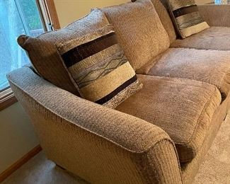 Large Brown Couch & Love Seat $500.00